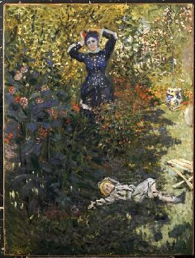 Camille and Jean Monet in the garden