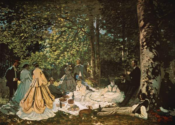 The breakfast in the greenery 1866