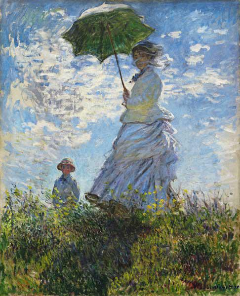 Woman with a Parasol, Madame Monet with her Son