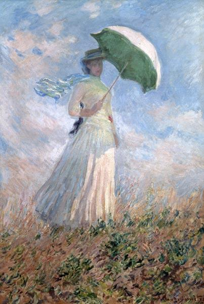Woman with an umbrella (Susanne Hoschedé)