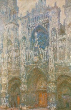 Rouen Cathedral, the west portal, dull weather