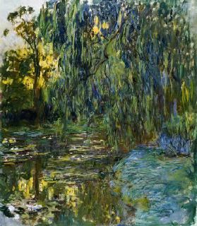 Weeping Willows, The Waterlily Pond at Giverny