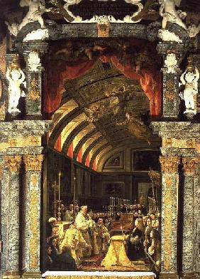 Holy Communion of Charles II (1661-1700) and his Court