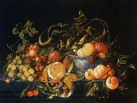 Heem, Cornelis de : A Still Life of Fruit