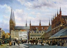 The market place to Lübeck.