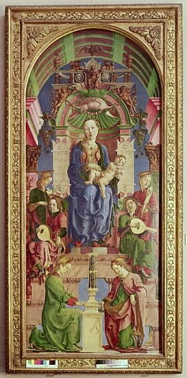 The Virgin and Child Enthroned, mid 1470s (oil & egg on tempera on poplar)