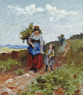 French Peasants on a Path