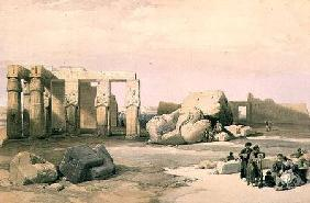 Fragments of the Great Colossus, at the Memnonium, Thebes
