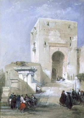The Gate of Justice, Entrance to the Alhambra, 1833 (pencil