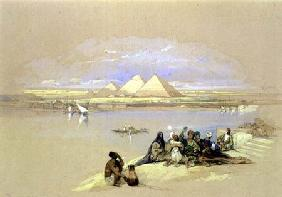 The Pyramids at Giza, near Cairo