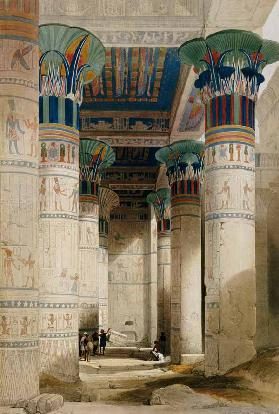Thebes, Ramesseum , Watercol.by D.Roberts