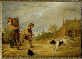 Farmboy with dog