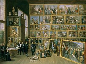 The Archduke Leopold Wilhelm (1614-62) in his Picture Gallery in Brussels, 1651 (see also 738)