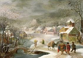 Alsloot, Denys van : A Winter Landscape with Tr...