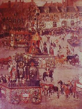 The Ommeganck in Brussels on 31st May 1615: detail of the Triumph of Isabella of Spain (1566-1633) 1