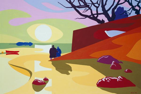 Tranquility, Jersey, 2003 (gouache on paper)