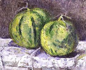 Melons on a napkin, 1993 (board)