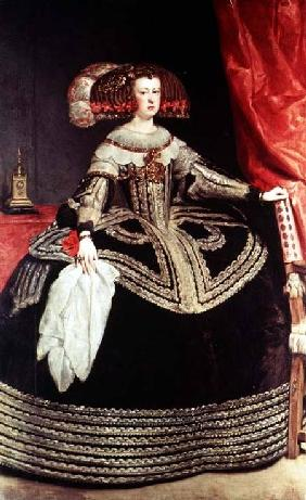 Queen Maria Anna of Spain (1635-96), wife of King Philip IV of Spain (1605-65)