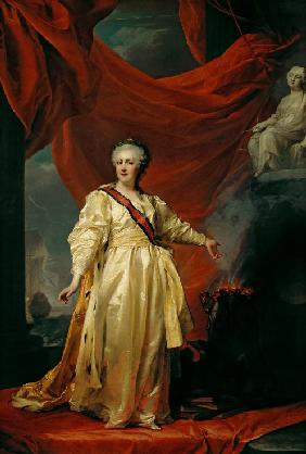 Portrait of Catherine II the Legislatress in the Temple Devoted to the Godess of Justice