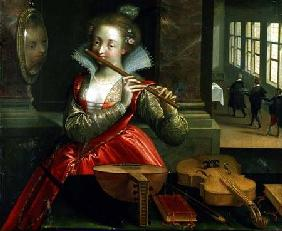 Allegory of Music (the Fluteplayer)