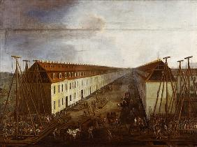 Building works on Friedrichstrasse in Berlin, c.1735