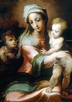 Madonna and child with infant John the Baptist