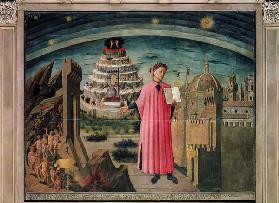 Dante and his poem the 'Divine Comedy', 1465 (tempera on panel)