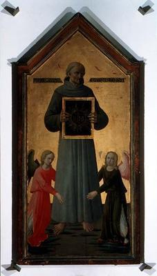 St. Bernardino of Siena (tempera on panel)