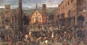 The Expulsion of the Bonacolsi in 1328 in Piazza Sordello, Mantua