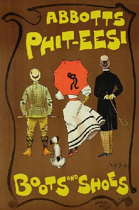 Reproduction of a poster advertising 'Abbotts Phit-Eesi Boots and Shoes'