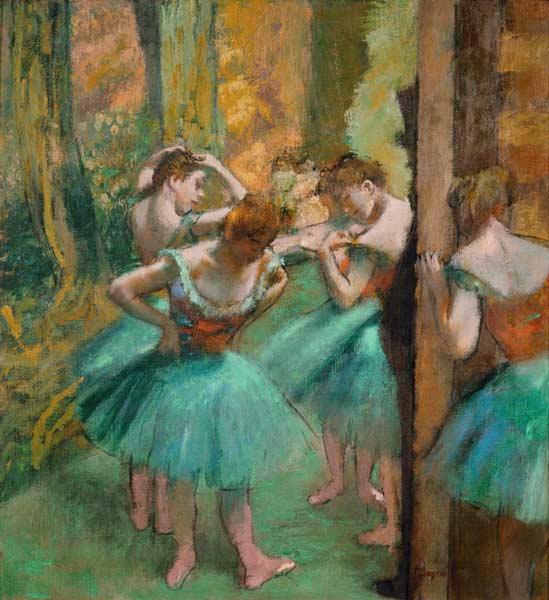 Danseuses En Rose Edgar Degas As Art Print Or Hand Painted Oil