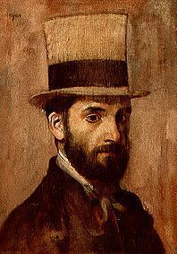 Portrait of the painter Leon Bonnat.