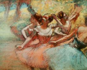 Four ballerinas on the stage