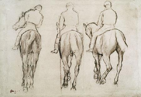 Jockeys (pencil)