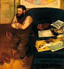 The art critic Diego Martelli (1839-1896)