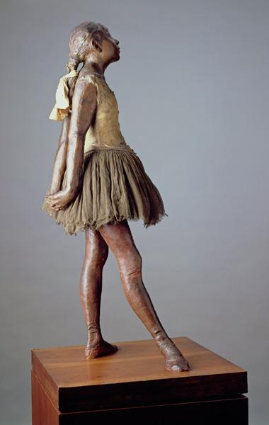Little Dancer, Aged 14 (polychrome bronze, muslin, satin and