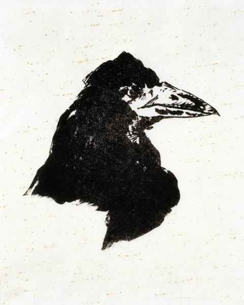 "Le Corbeau (The Raven) Illustration for the poem ""The Raven"" by Edgar Allan Poe 1875"