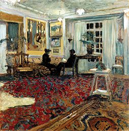 chat in the drawing room monsieur and m edouard vuillard as art print or hand painted oil. Black Bedroom Furniture Sets. Home Design Ideas