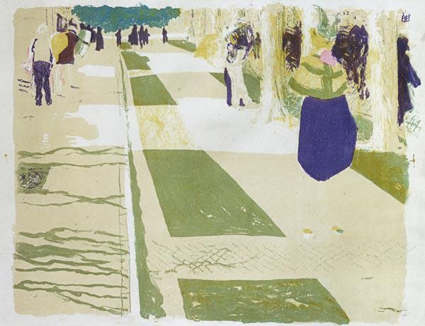 The Avenue, 1898/99 (colour litho)