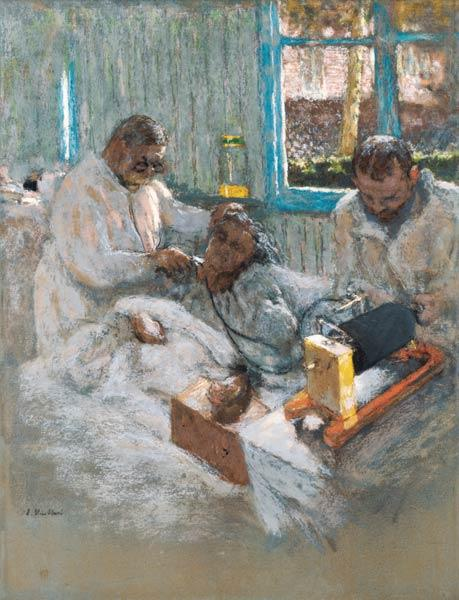 The Cardiologist Henri Vaquez (1860-1936) and his Assistant, Doctor Parvu, at la Pitie, c.1918-21 (p