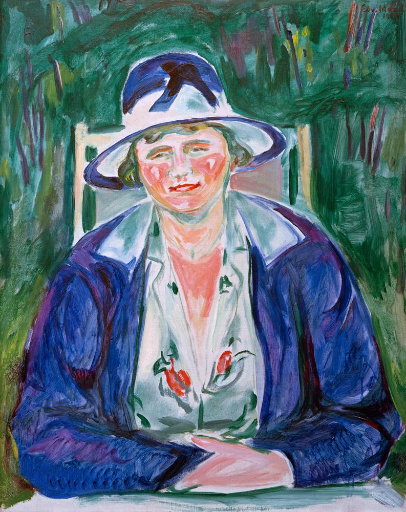 Portrait Der Frau Hoffmann Edvard Munch As Art Print Or Hand Painted Oil