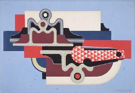 Abstract design with a clasp knife, 1930