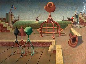 Satellitium, 1942 (tempera on wood)