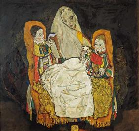 Mother with two children