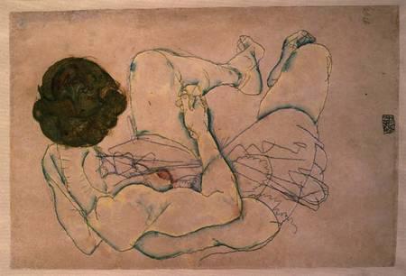 Image: Egon Schiele - Woman with Spread Legs