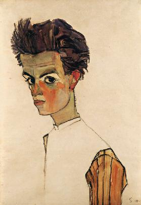 Self-Portrait with Striped Shirt 1910