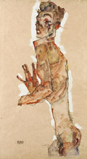 Self-Portrait with Splayed Fingers