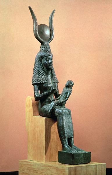 Isis suckling the infant Horus - Egyptian as art print or