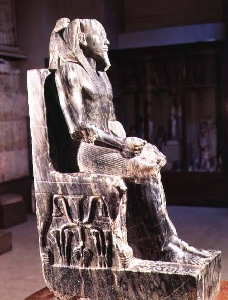 khafre enthroned