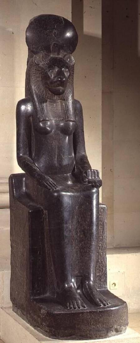 Statue Of The Lion Headed Goddess Sekhme Egyptian As Art